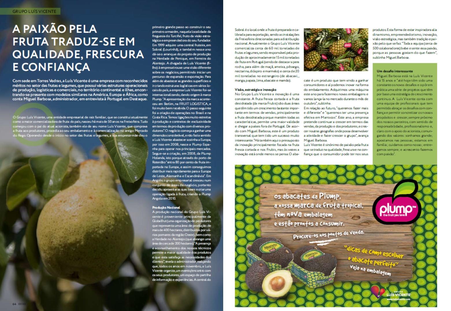 "Oct 2018 – Magazine ""Portugal em Destaque"", in Jornal Expresso"